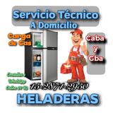 Service Heladeras Tecnico Carga Gas A Domicilio Reparacion