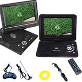 Reproductor Portatil Dvd 9.8 Tv Fm Juegos Auto 220v-12v Usb