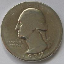 Quarter Dollar 1/2 Dolar 1937 Estados Unidos Plata !