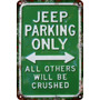 Carteles Antiguo Chapa 60x40cm Parking Only Jeep 4x4 Pa-44