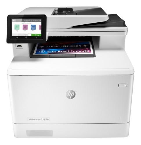 Impresora A Color Multifunción Hp Laserjet Pro M479fdw Con Wifi 220v Blanca