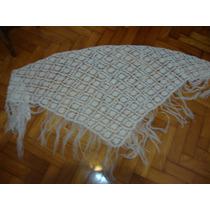 Chal-manton De Lana Tejido Al Crochet