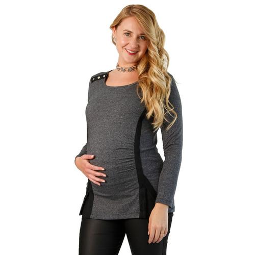 86e4bcecf Camiseta Con Broche Para Amamantar - Maternal Embarazada en venta en ...