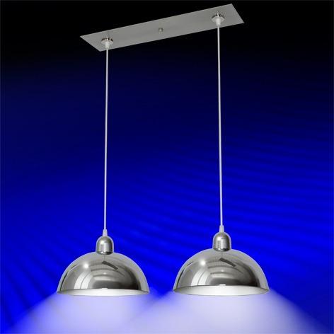 Lamparas colgantes 2 luces cromo para cocina comedor tvf for Luces colgantes para jardin