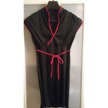 Vestido Corto Oriental Negro Y Rojo
