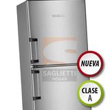 Heladera Con Freezer Kohinoor Acero Inox 321 Litros Kfx3494