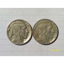 Estados Unidos 5 Centavos Bufalo 1934 Y 1937