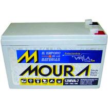 Bateria Moura Vrla 12mva-7 12v 7ah Alarmas Ups Emporio