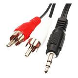 Cable De Plug 3,5mm A 2 Rca -1,50 Mts P/ Pc Parlantes