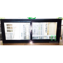 Ventana Aluminio Negro Entero 150x60 Puertas Aberturas