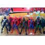 Spiderman Blister Con 5 Personajes Venom Lagartija Duende Ve