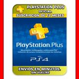 Psn Plus 12 Meses Playstation Ps4 Elegi Reputacion Oferton!!