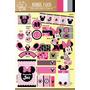 Kit Imprimible Personalizado Minnie Mouse Candy Bar Y Deco!