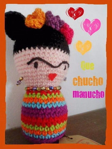Frida Kahlo Amigurumi USD320 fTMuA - Precio D Argentina