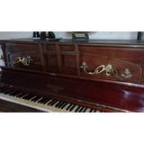 Antiguo Piano Vertical Gaveau Paris Candelabros Y Banco