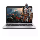Notebook Asus Intel Dual Core Hd Usb Hdmi 15.6 4gb Ssd 240