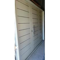 Portón Garage Doble Chapa Inyectado 240x200 Apliques Barral
