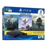 Ps4 Slim 1 Tb Playstation 4 C/ God Of War + Horizon + Shadow