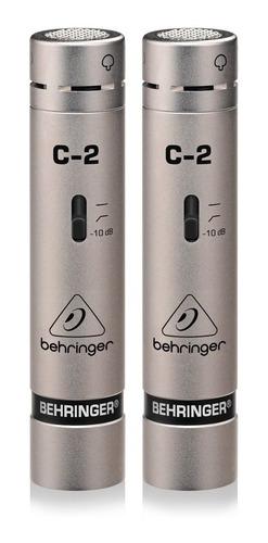 Set De Micrófonos Behringer C-2 Condensador Cardioide Plateado