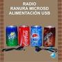 * Latas Forma De Coca Cola Mini Parlante Con Altavoz, Usb