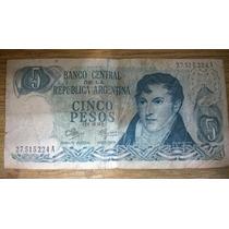 Billete Ley 18.188 Serie A 5 Pesos Argentinos