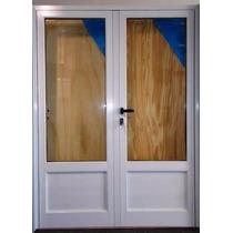 Puerta Doble Módena Aluminio 180x200 Vidrios Laminados 3+3