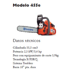 MOTOSIERRA HVA 455e