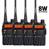 Kit X 4 Handy Baofeng Uv5r 8w Bibanda Radio Walkie Vhf - Uhf