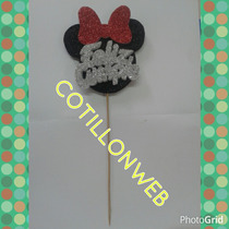 Cartel Feliz Cumple Minie Cotillon