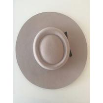 Sombrero Tipo Gaucho Copa Redonda Chata Ala 10cm 62cm Beige