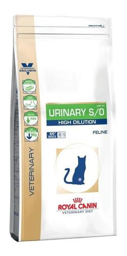 Alimento Royal Canin Veterinary Diet Feline Urinary S/o High Dilution Uhd 34 Gato Adulto Mix 1.5kg