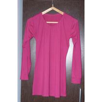 Remera Larga O Vestido Fuxia M O L Modal Y Lycra Ideal Calza