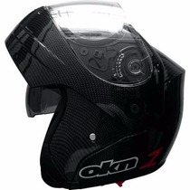 Casco Rebatible Okinoi 1 Carbono Doble Visor! Wagner Hermano