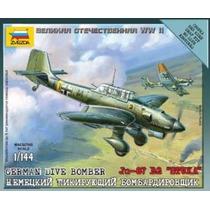 Aviones Zvezda P/armar Stuka Ju 87 B2 1/144 Kit 6123