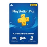 Tarjeta Psn Plus 12 Meses Digital Usa | Entrega Inmediata - Gamer24hs