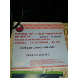 Entrada  Redonditos De Ricota Racing 1998 Y Mas
