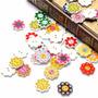 Botones 50 Unidades Flores Surtidas Ideales Para Artesanías