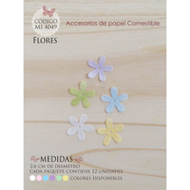 Flores En Papel Comestible Mi 4049