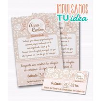 Invitación De Boda Para Imprimir - Tarjeta Y Personal Ana
