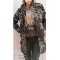 Campera Camuflada-mujer-militar-camperón-chaqueta-gabardina-