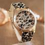 Reloj Mujer Diseño Animal Print Malla De Silicona Importado