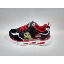Disney Zapatillas Originales Minions Con Luz Talles 23 Al 30