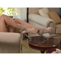 Zapato Mujer Encaje Beige Zapato Fiesta