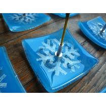 Souvenirs De Frozen En Vitrofusion. Porta Sahumerios 7x7cm