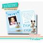 Mickey Bebé - Invitación Mickey Bebé Para Imprimir
