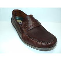 Zapato Mocasín Caballero En Cuero Vacuno Color Marrón