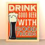 Cuadro Moderno Decoracion Con Frase Cerveza Bar Beer