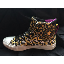 Zapatillas All Star Converse High Top Leopardo Talle 8 Usa