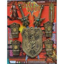 Set De Espada Y Armadura Medieval Guerrero Por Mayor Y Menor