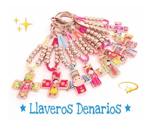 1f624e81a415 Denarios Souvenirs Comunion Bautismo Llaveros X50 C/organ en venta ...